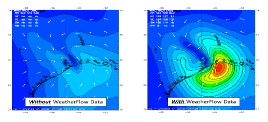WeatherFlow HWIND Reconstruction Hurricane Ike